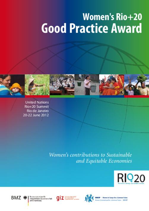 Women's Rio+20 good practice award winners
