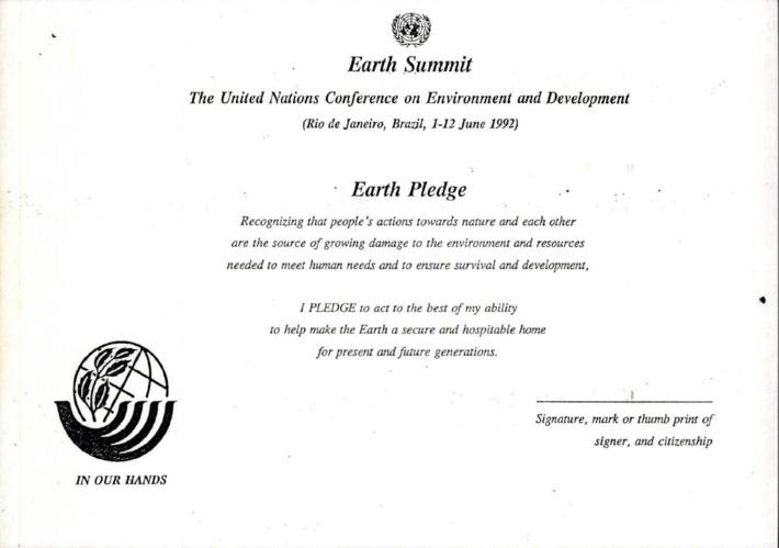 지구 서약 사용 지침