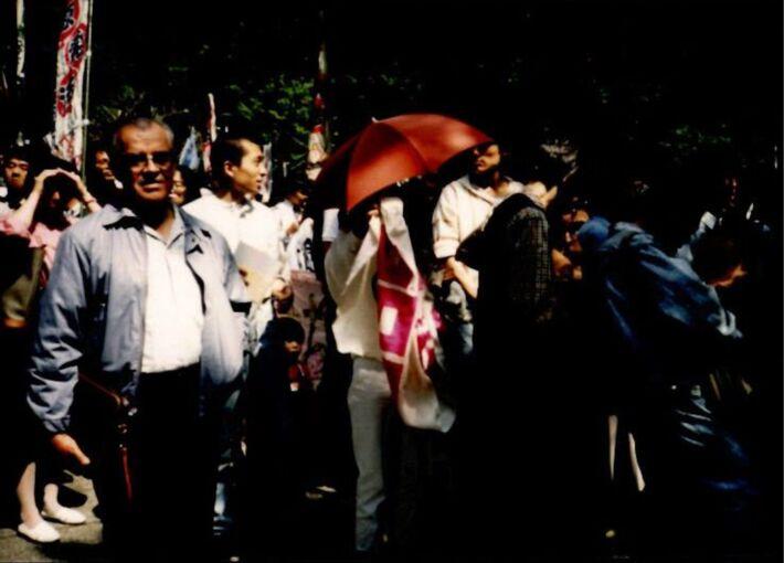 핵발전소 반대 일본집회 사진
