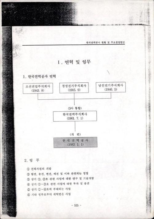 한국전력공사 현황 및 주요경영안