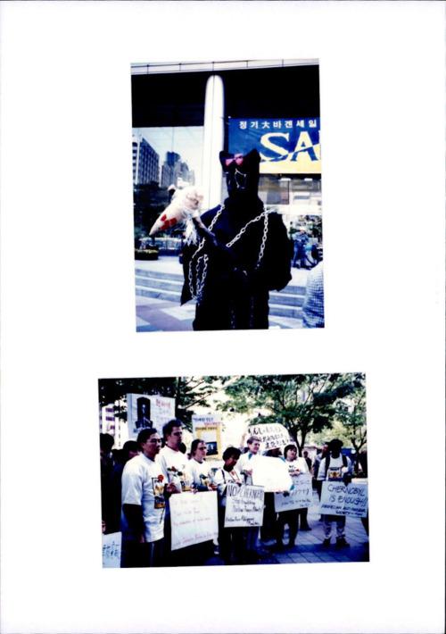 반핵 명동시위 사진