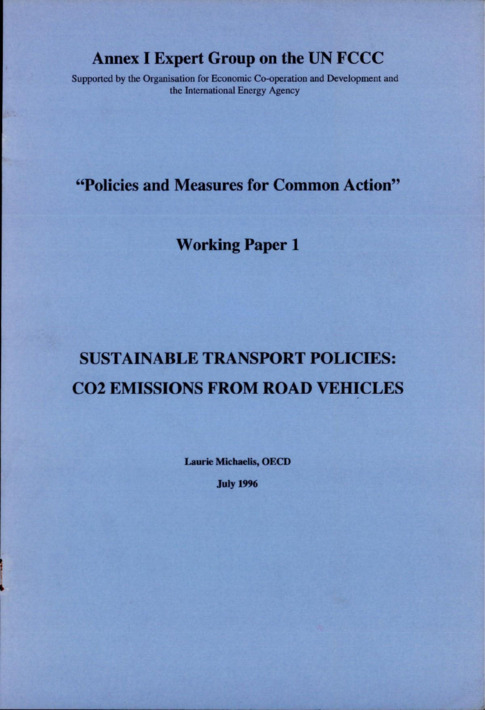 Policies and Measures for Common Action