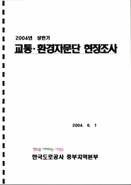 2004년 상반기 교통환경자문단 현장조사