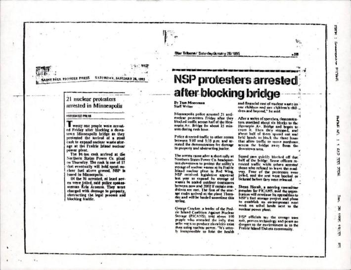 NSP protesters arrested after blocking bridge