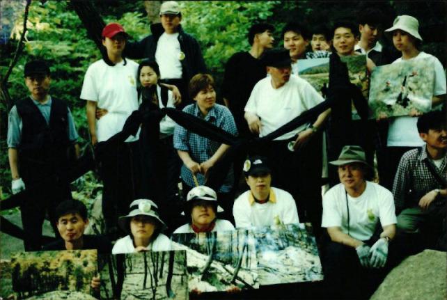 2000.5.29. 강원도 산불 관련 북한산 행위 예술(녹색친구들) 3