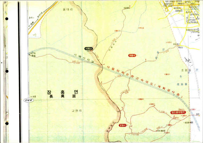 [서울외곽순환고속국도 계획공사 지도]