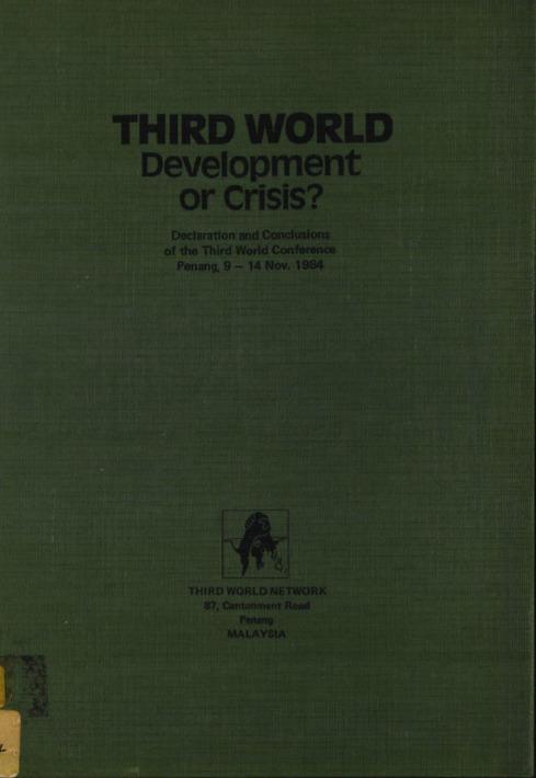 THIRD WORLD Development or Crisis?