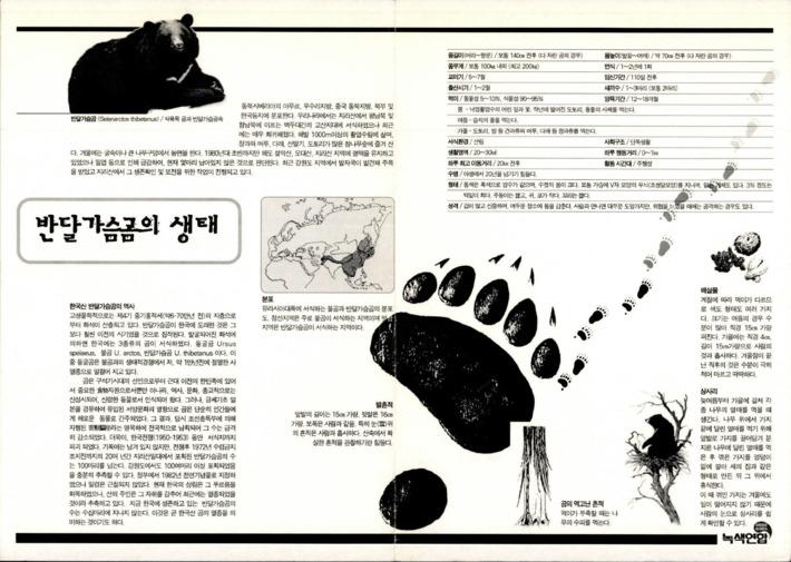 반달가슴곰의 생태