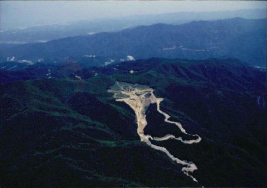 자연생태 기타 4 - 점봉산 양수댐 건설현장 항공촬영