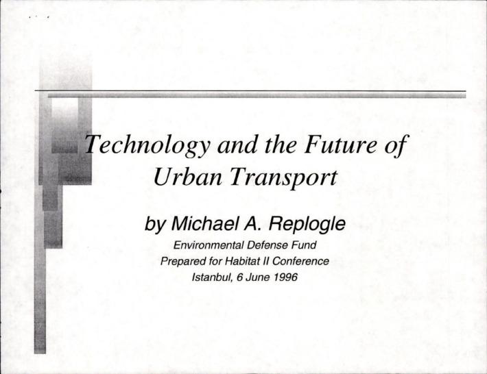도시 교통의 미래와 기술
