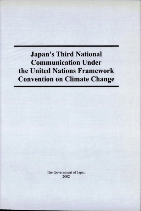 Japan's Third National Communication Under the United Nations Framework Convention on Climate Change