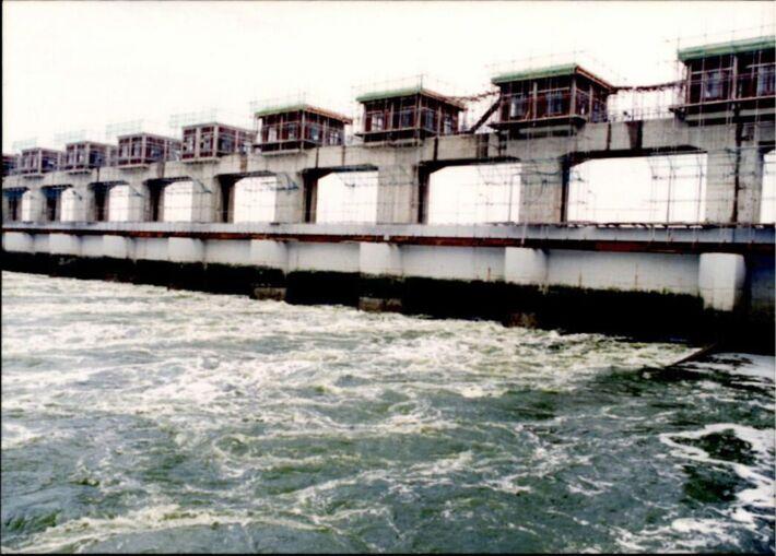 댐 건설 사진