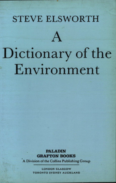 A Dictionary of the Environment