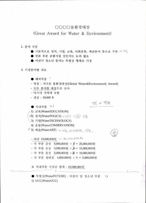 0000 물환경대상 (Great Award for Water & Environment)